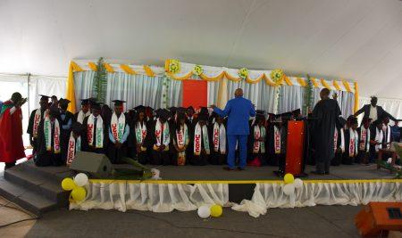 Collation des grades académiques à l'Université Chrétienne Bilingue du Congo, UCBC/Beni pour l'année académique 2018-2019 ce Samedi 03 Aout 2019.